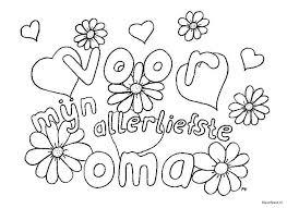 Kleurplaten Oma Is De Liefste.Verjaardag Kleurplaat Een Mooie Tekening Voor Opa Oma Mama En Papa