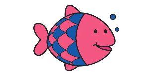 Vis kleurplaat